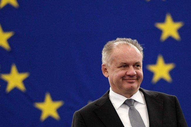 Der slowakische Präsident Andrej Kiska kommt am Montag nach Wien.