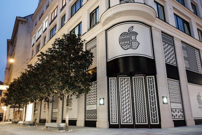 Der Wiener Apple-Store steht vor der Eröffnung