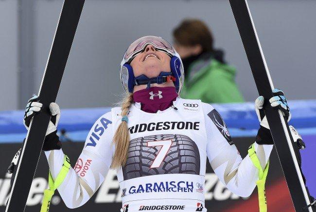 Lindsey Vonn gewinnt die Abfahrt in Garmisch.