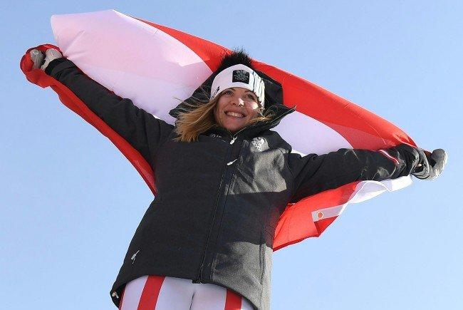 Katharina Gallhuber holt sich Olympia-Bronze im Slalom.