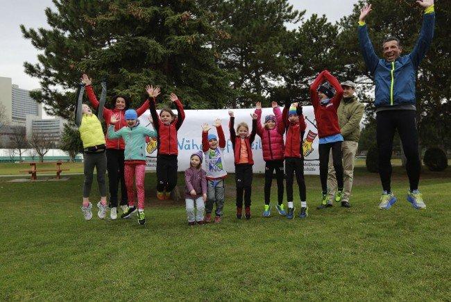 """Sportliche Kids gehen beim """"Kids Run"""" in Wien an den Start."""