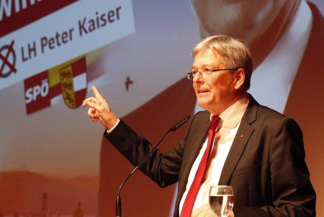 Kärntens Landeshauptmann und SPÖ-Spitzenkandidat bei der kommenden Wahl, Peter Kaiser, im Gespräch
