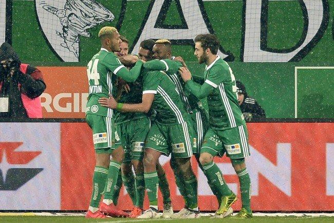 Rapid Wien feiert einen Erfolg gegen den LASK