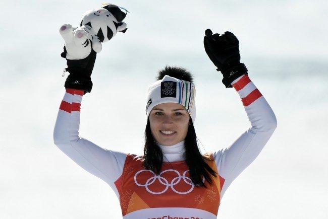 Anna Veith holte im Super-G der Damen Silber.
