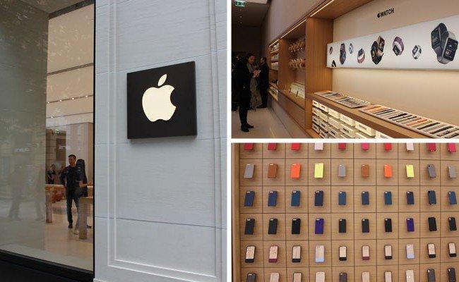 Österreichs erster Apple-Store eröffnet auf der Kärnter Straße in Wien.