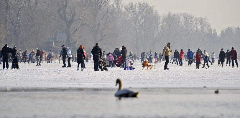 Warnung: Darum ist das Eislaufen auf der Alten und Neuen Donau lebensgefährlich