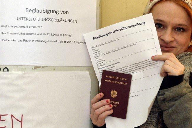 Das Frauen-Volksbegehren 2.0 kann ab sofort unterschrieben werden - und das in jedem Gemeindeamt Österreichs.