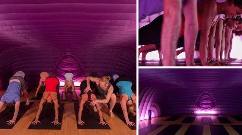 """Hot-Yoga im neuen """"Hotpod"""": Bis der Schweiß auf die Matte tropft"""