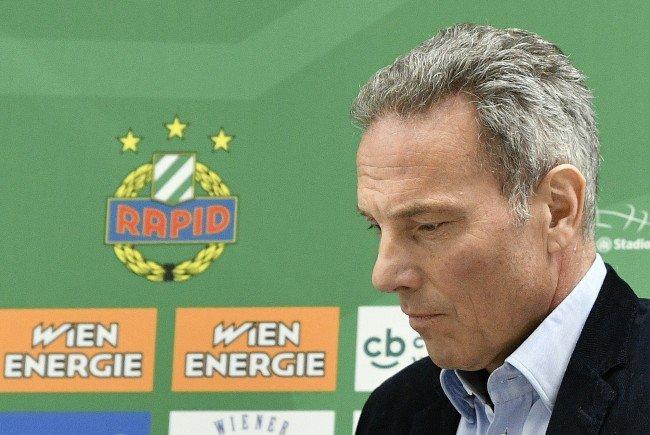 Rapid-Chef Krammer hält nichts von Fußball in A1 TV.