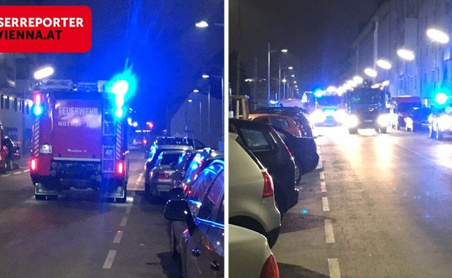 Die Feuerwehr rückte mit drei Fahrzeugen aus.