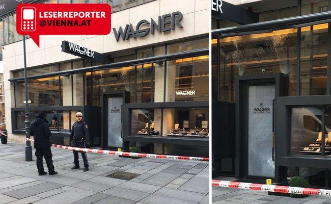 In diesen Juwelier in der Wiener Kärntner Straße versuchten die Täter einzubrechen.