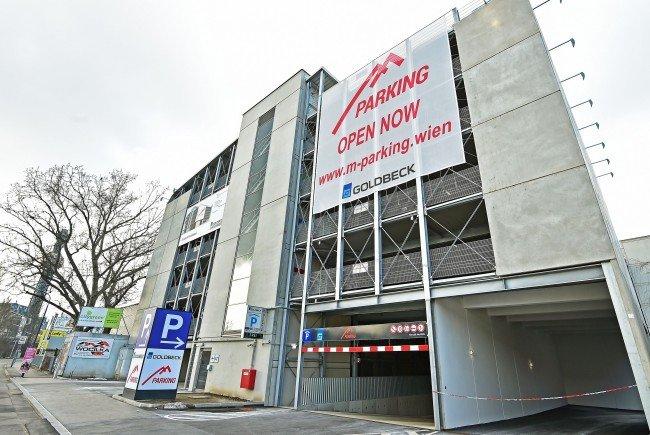 Das neue Parkhaus M Parking in Wien-Döbling ist fertig.