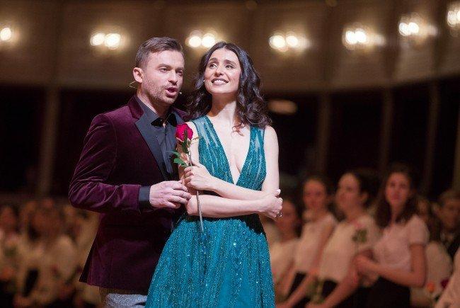 Tenor Pavol Breslik und Sopranistin Valentina Nafornita bei der generalprobe des Opernballs.