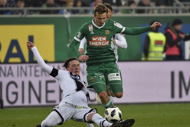 Das Match Rapid Wien gegen Sturm Graz brachte ein 1:1.
