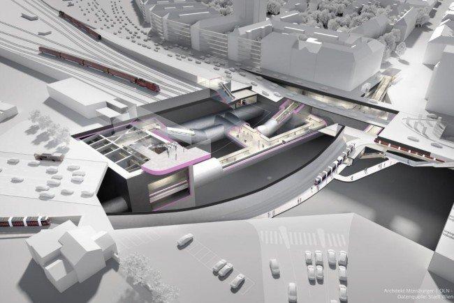Wie die U2-Station Matzleinsdorfer Platz in Zukunft aussehen könnte.