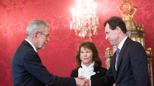Bundespräsident Van der Bellen lobte neues VfGH-Präsidium an