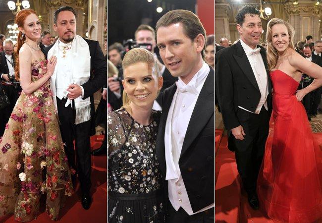 Zahlreiche Promis schritten über den Roten Teppich am Wiener Opernball 2018.