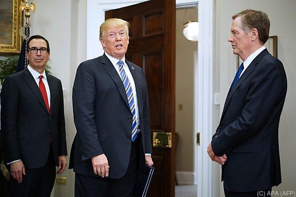 """Der US-Präsident pocht auf """"Fairness"""""""