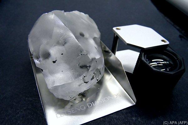 Der Diamant stammt aus der Mine Letseng im Norden Lesothos