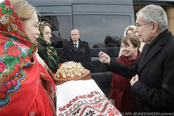 Van der Bellen trifft seinen ukrainischen Amtskollegen