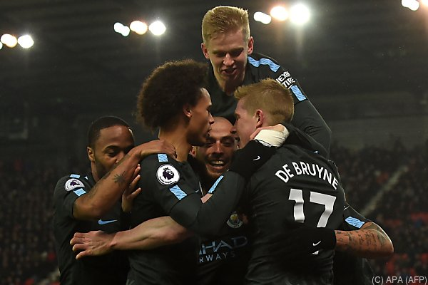 Spieler von Manchester City können jubeln