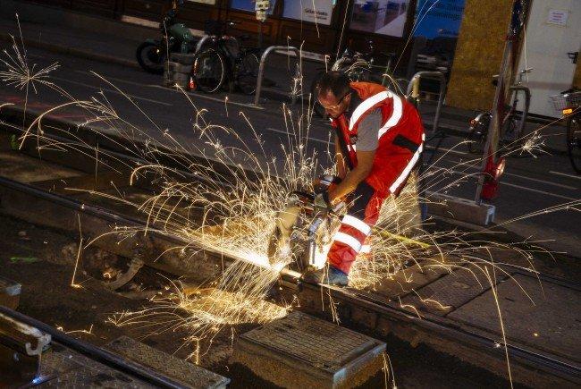 Gleisbauarbeiten sorgen im Wiener Stadtzentrum für eine Totalsperre.