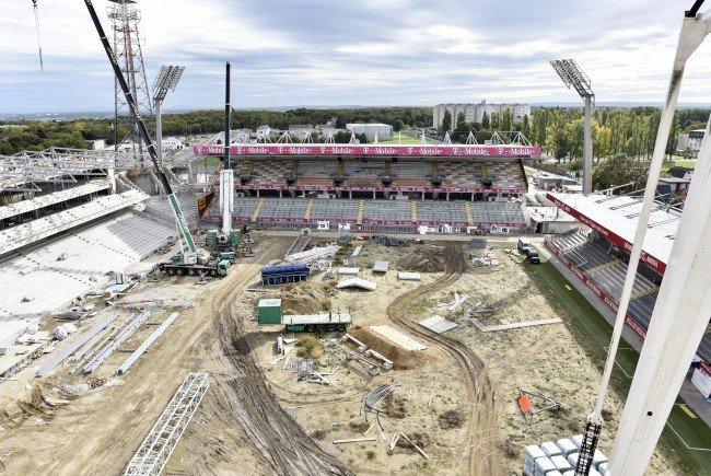 Die erweiterte Generali-Arena wird Mitte Juli offiziell eingeweiht.