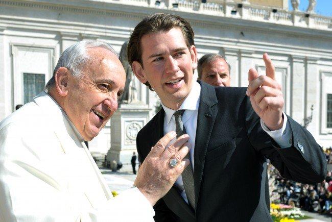 Österreichs Bundeskanzler Kurz bei Papst Franziskus