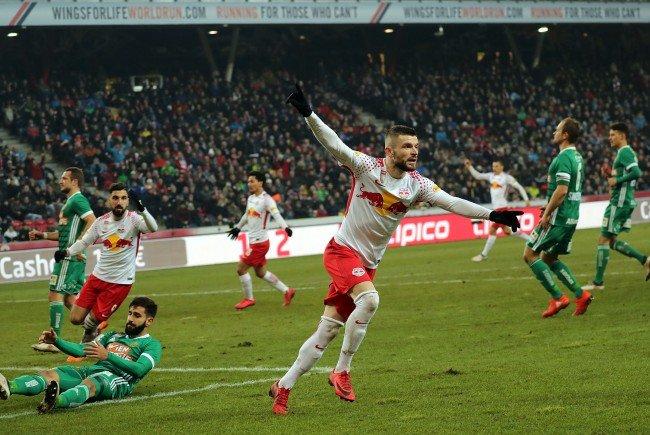 Red Bull Salzburg gewann gegen Rapid Wien.