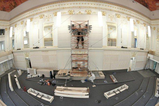 Bei den Sanierungsarbeiten im Parlament in Wien wurden NS-Objekte gefunden.