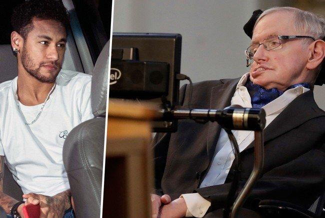 Neymars Vergleich mit Stephen Hawking kam bei vielen Instagram-Usern nicht besonders gut an.