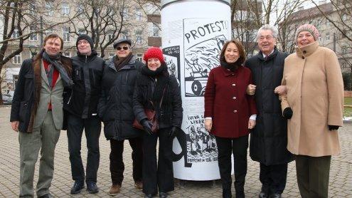 """Projekt """"Gekreuzte Geschichten"""" feierlich am Mexikoplatz eröffnet"""