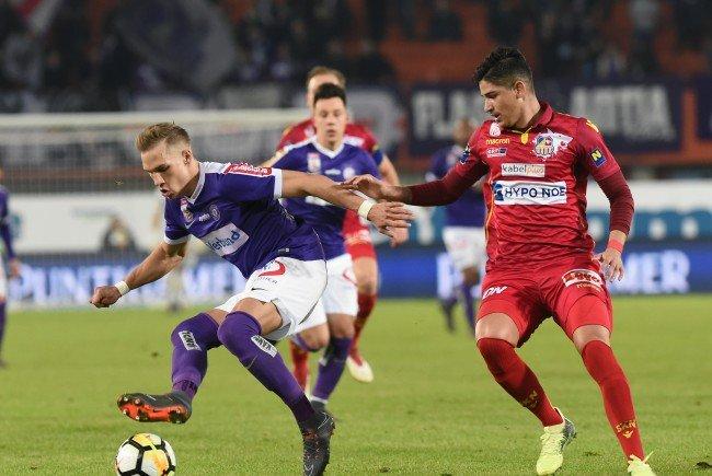 Das Match Austria Wien gegen St. Pölten endete 4:0.