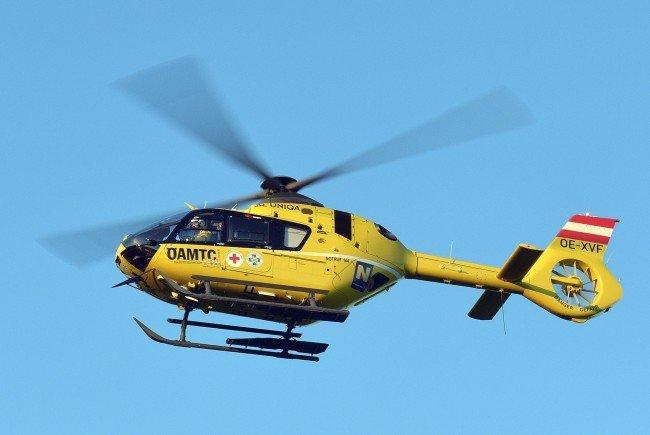 Die verletzte Frau wurde mit dem Hubschrauber ins Krankenhaus Wiener Neustadt gebracht.