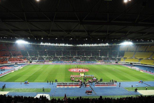 Das Happel-Stadion wird am 27. Mai bereits vom Frauenlauf besetzt.