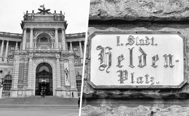 Der Wiener Heldenplatz als Hauptplatz der Republik Österreich.