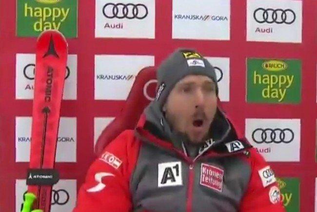 Der Ski-Star ist sichtlich geschockt.