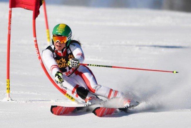 Für Österreich war auch Katharina Liensberger am Start