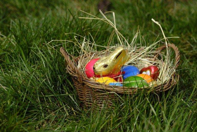 Bei schönem Wetter können die Eier sogar im Freien gesucht werden.