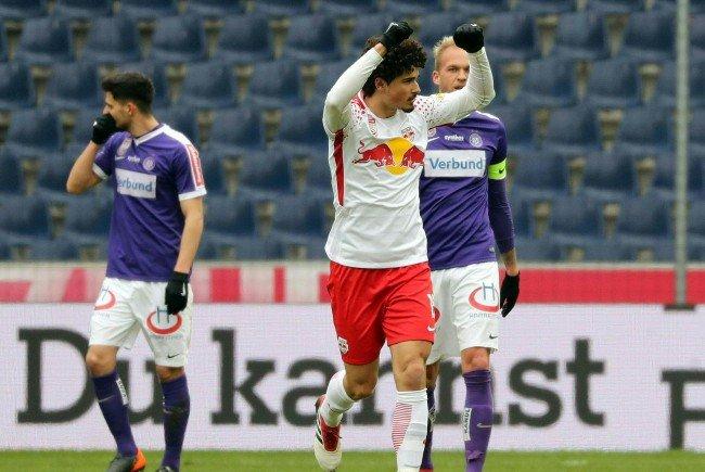 Austria Wien wurde auswärts gegen Red Bull Salzburg mit 5:0 abgefertigt.