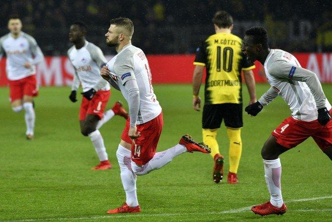 Salzburgs Valon Berisha konnte gegen Borussia Dortmund gleich zweimal jubeln.