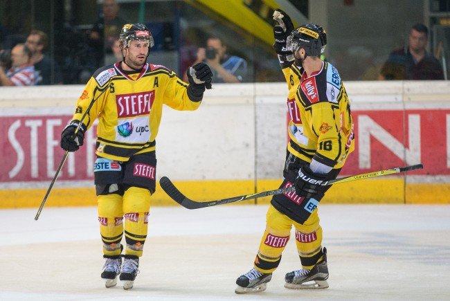 Die Vienna Capitals konnten ihren vierten Sieg erzielen.