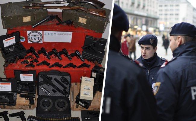 Mehr als 150 Waffen wurden sichergestellt.