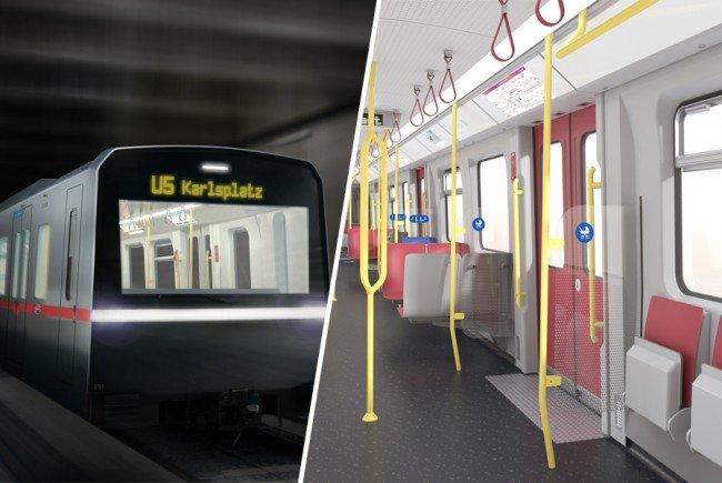 Visualisierung des neuen X-Wagens, der künftigen U-Bahn für Wien.