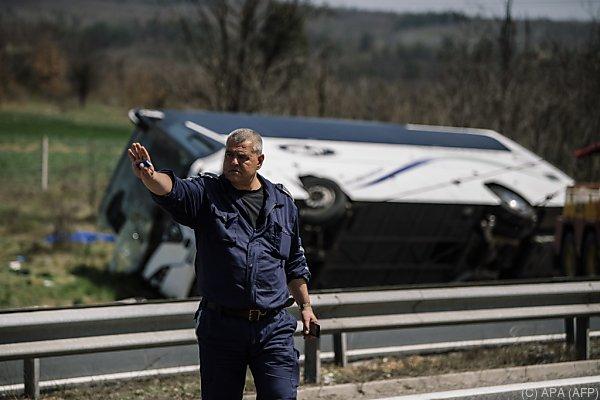 Unfall mit Linienbus nahe der bulgarischen Hauptstadt Sofia