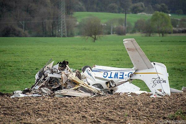 Das abgestürzte Sportflugzeug