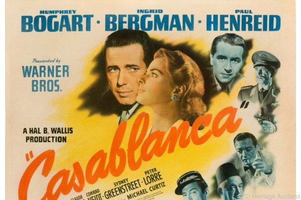 """""""Casablanca""""-Poster für 56.000 Dollar versteigert"""