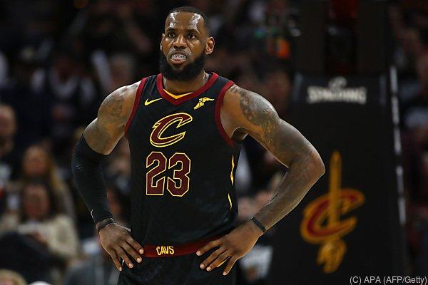 Cavaliers-Star LeBron James schaut nicht glücklich aus