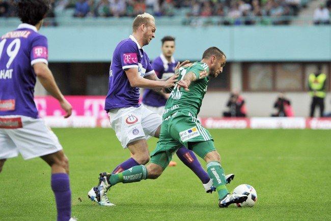 Fußball-Fan verletzte Fotografin bei Wiener Derby.