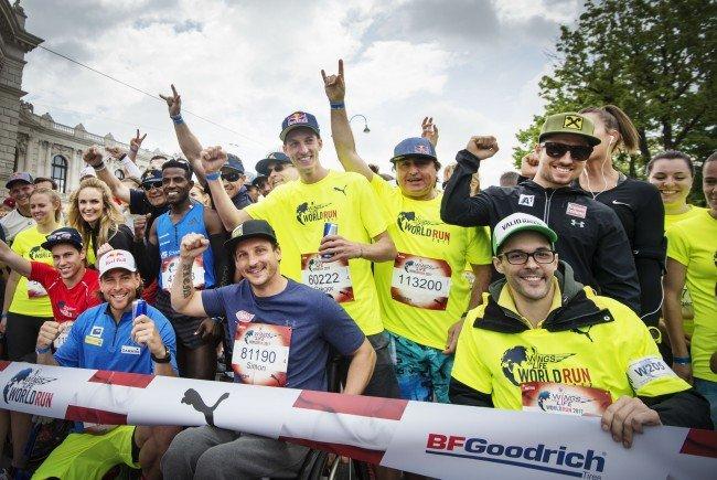 Zahlreiche Sportgrößen nehmen am Wings for Life run am 6. Mai teil.